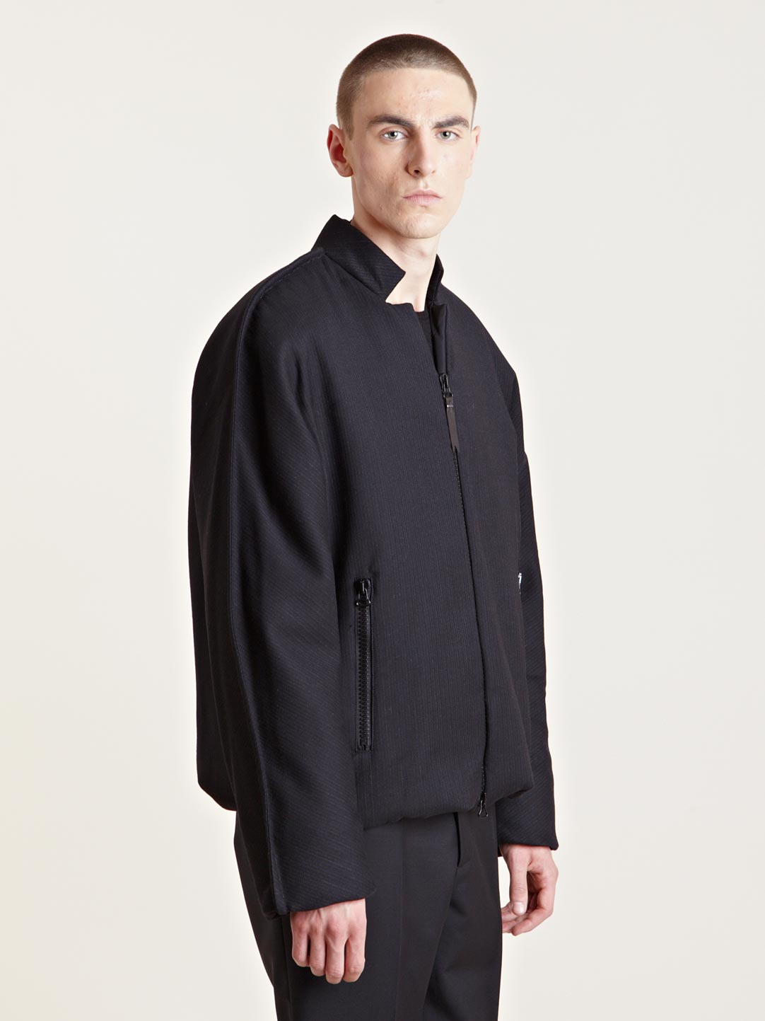 Lanvin Mens Blouson Bomber Jacket In Black For Men Lyst