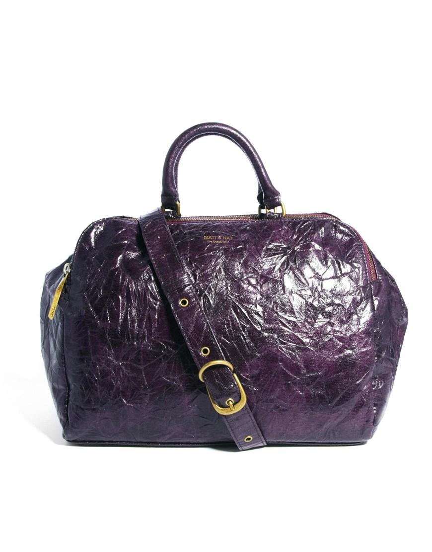 88b6b8e0e521 Lyst - Matt   Nat Japanese Paper Handbag in Purple