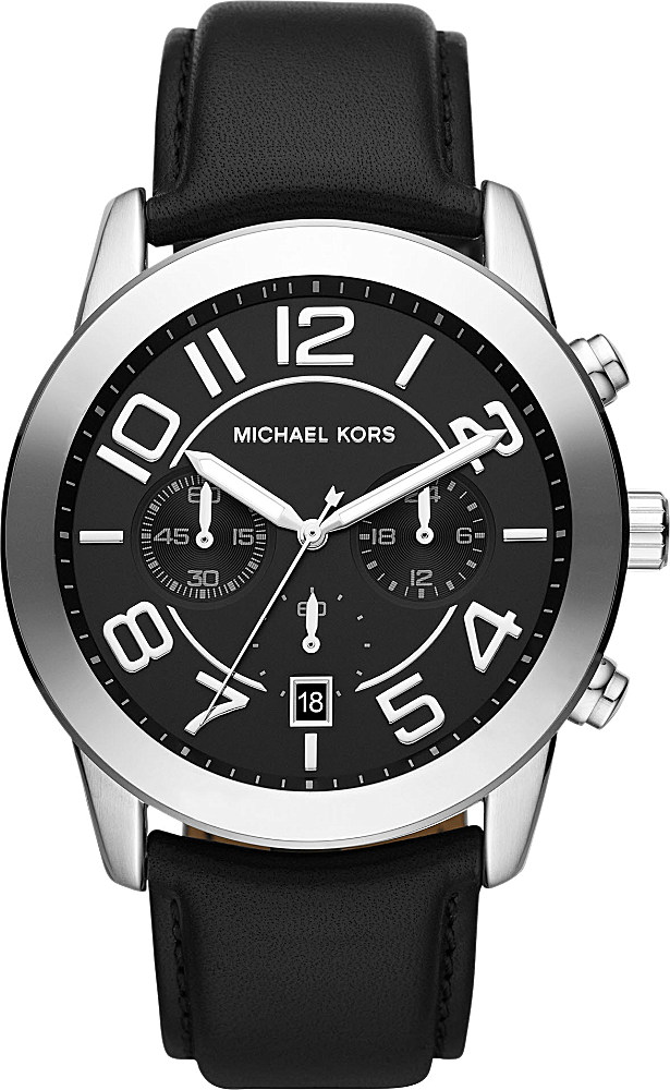 michael kors mk8288 mercer stainless steel and leather strap gallery previously at selfridges · men s michael kors