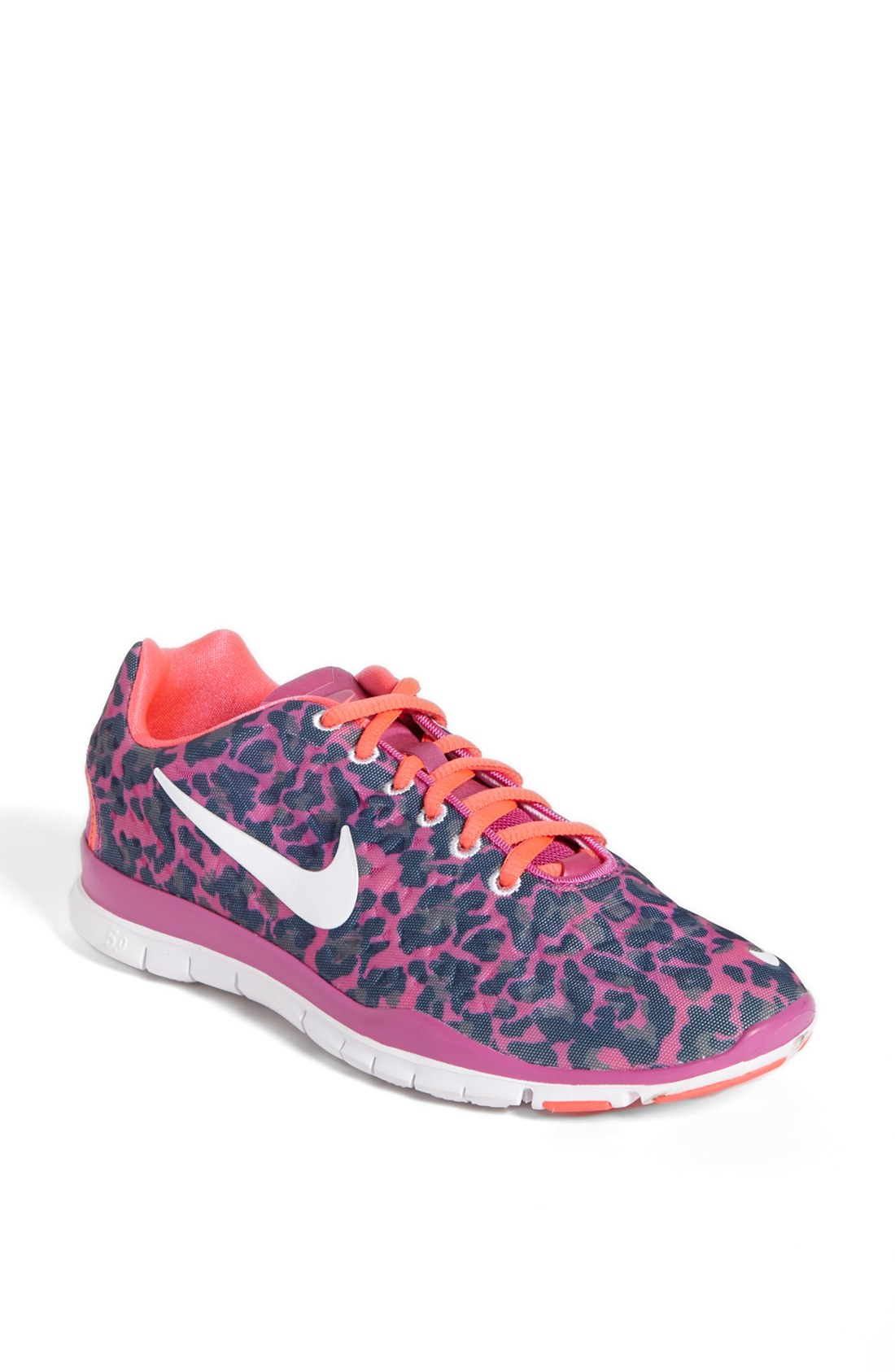 Nike Free Tr Fit 3 Print Training Shoe in Pink (Navy/ Pink ...