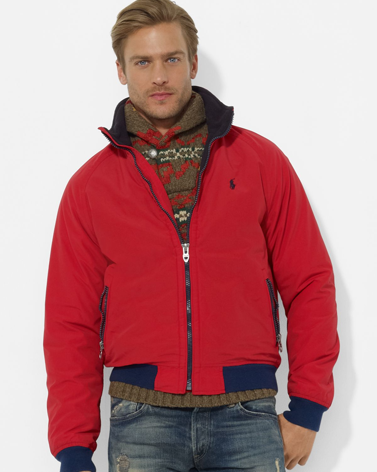 730da93519 italy ralph lauren jackets grey red 3cb53 9dbca