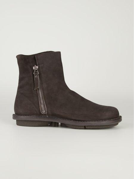 Trippen Trippen Zip Detail Boot In Brown For Men Lyst