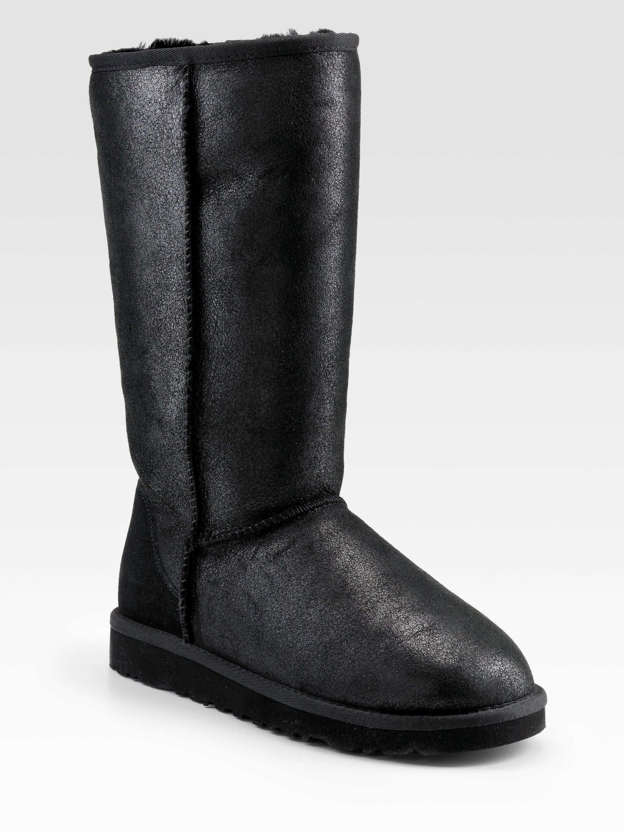 be8f0c493c5 ... australia lyst ugg classic leather tall bomber boots in black 349d5  b0503