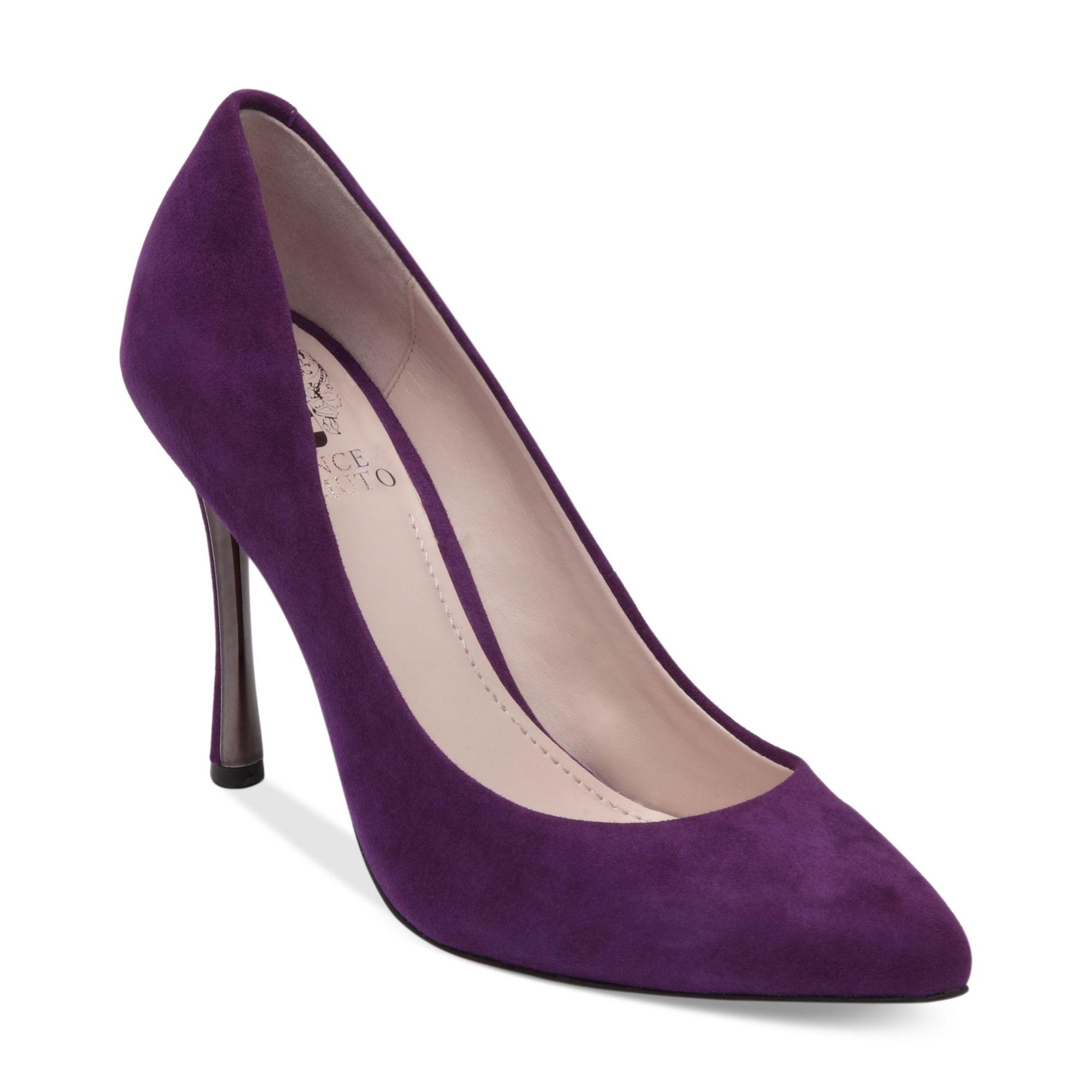 Vince Camuto Cynthea Pumps In Dark Purple Purple Lyst