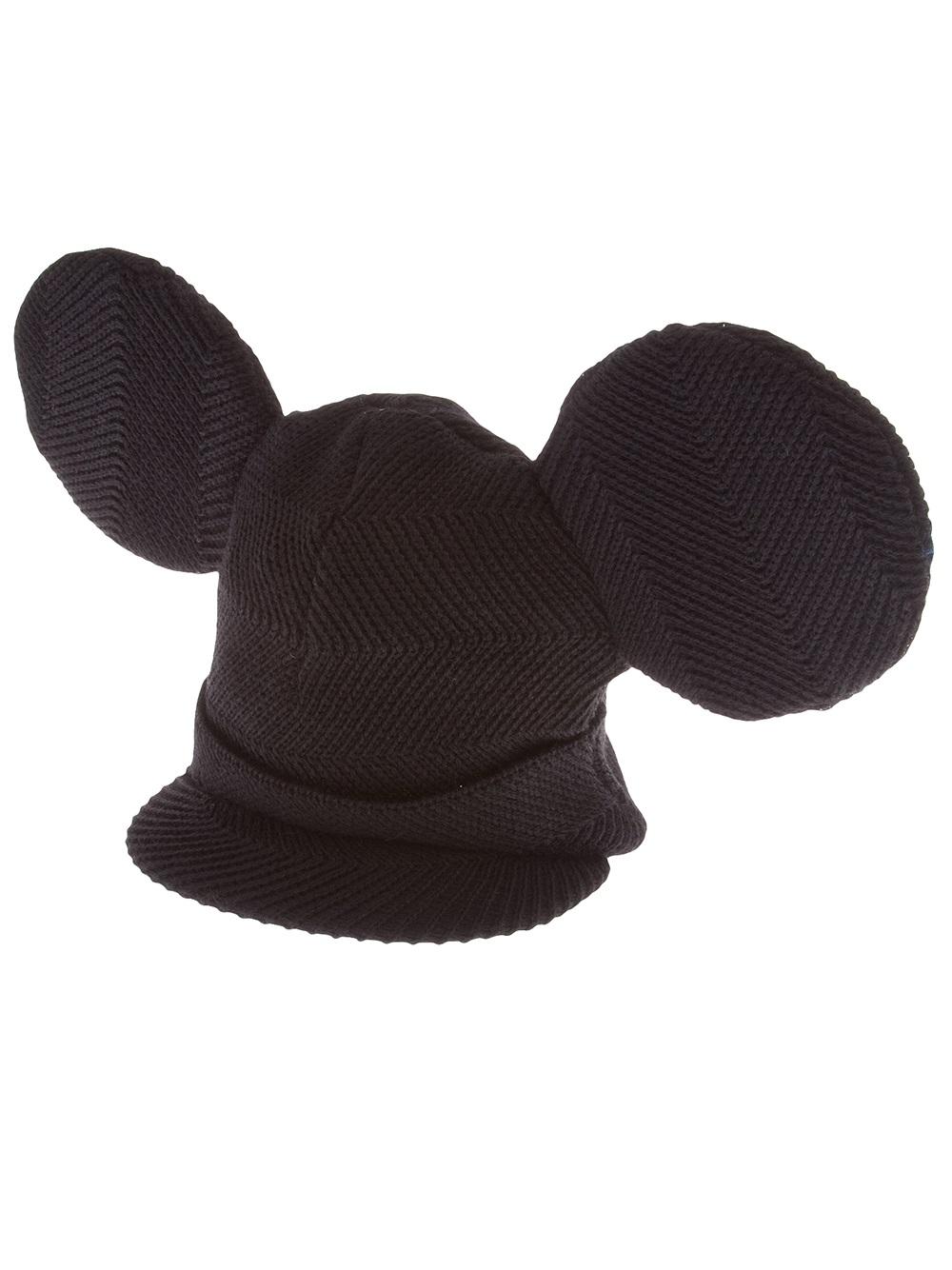 40c7be11929 Lyst - Comme des Garçons Homme Plus Ear Beanie Hat in Black for Men