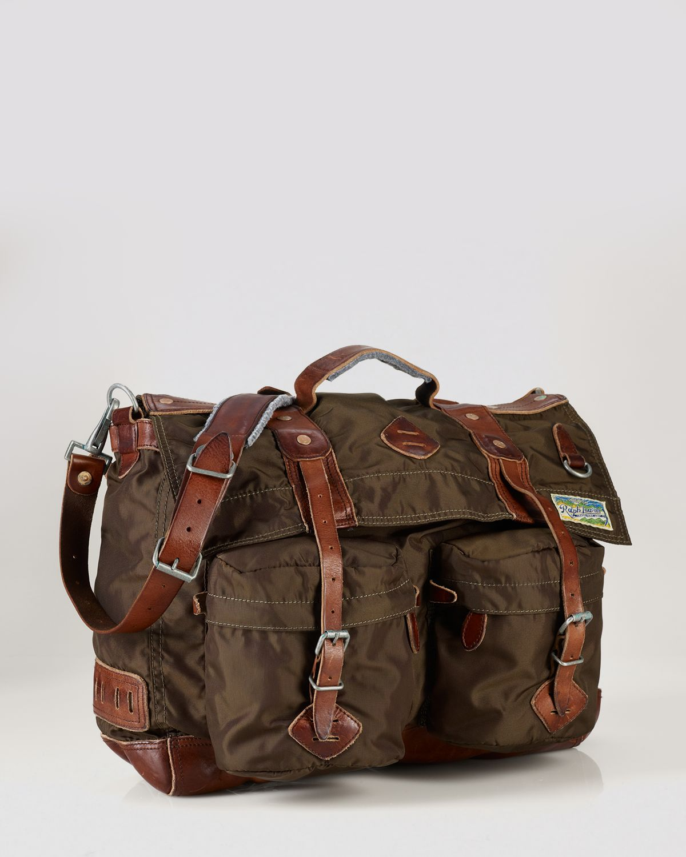 847396f12f6 ... best price lyst ralph lauren polo nylon messenger bag in green for men  c5d2e bfb1e