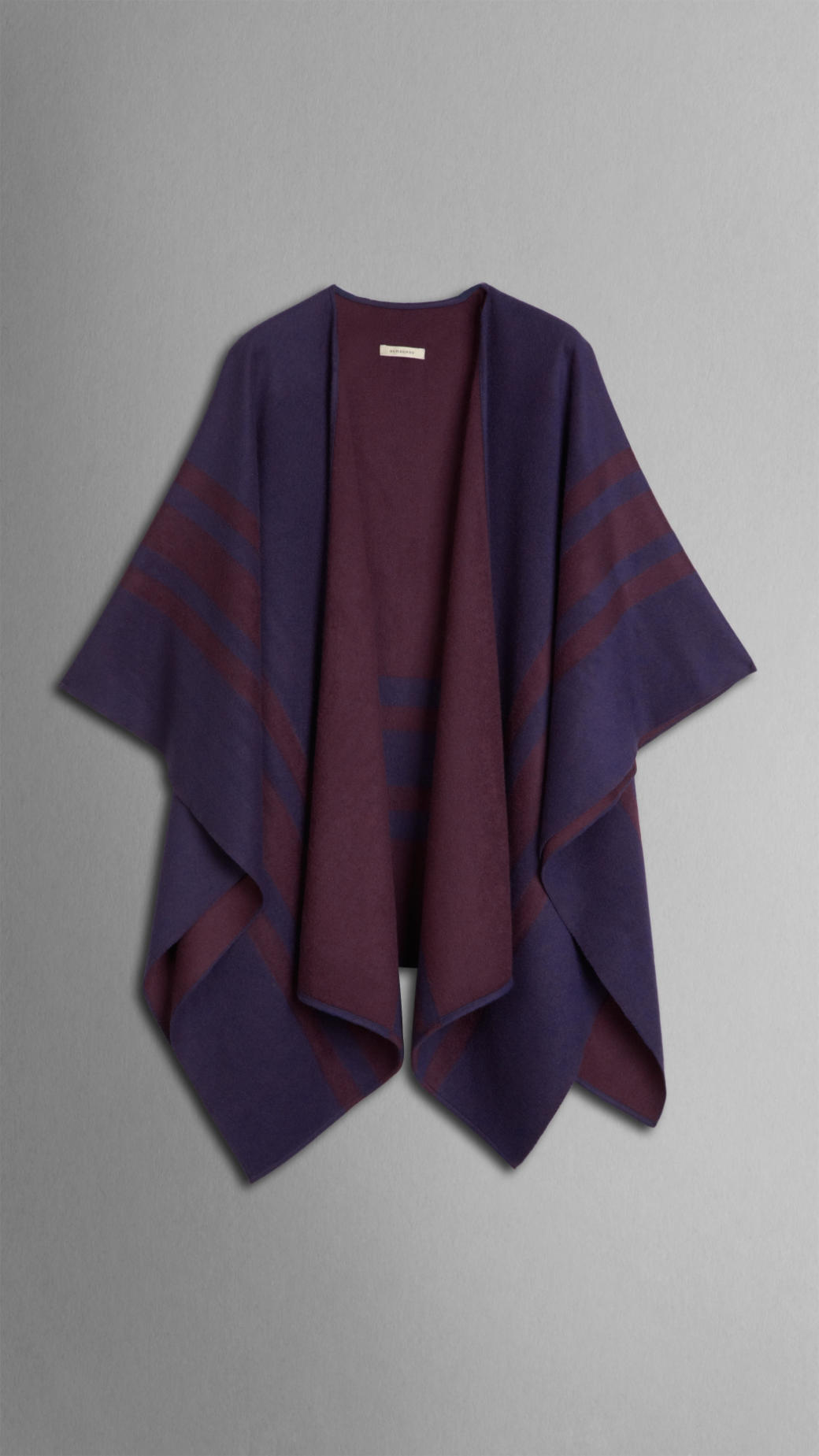 Burberry Striped Cashmere Wool Wrap In Purple Lyst