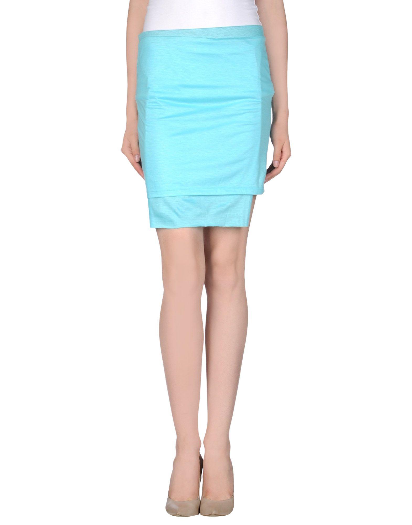 cheap monday knee length skirt in blue lyst