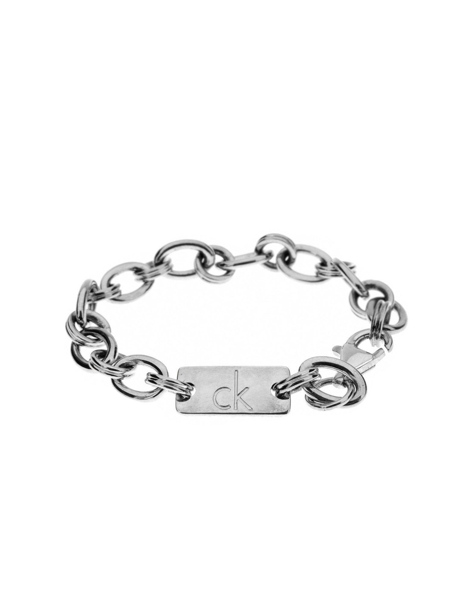 ck calvin klein bracelet in metallic lyst