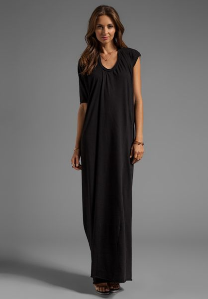 Complexgeometries Square Hood Gown in Black in Black