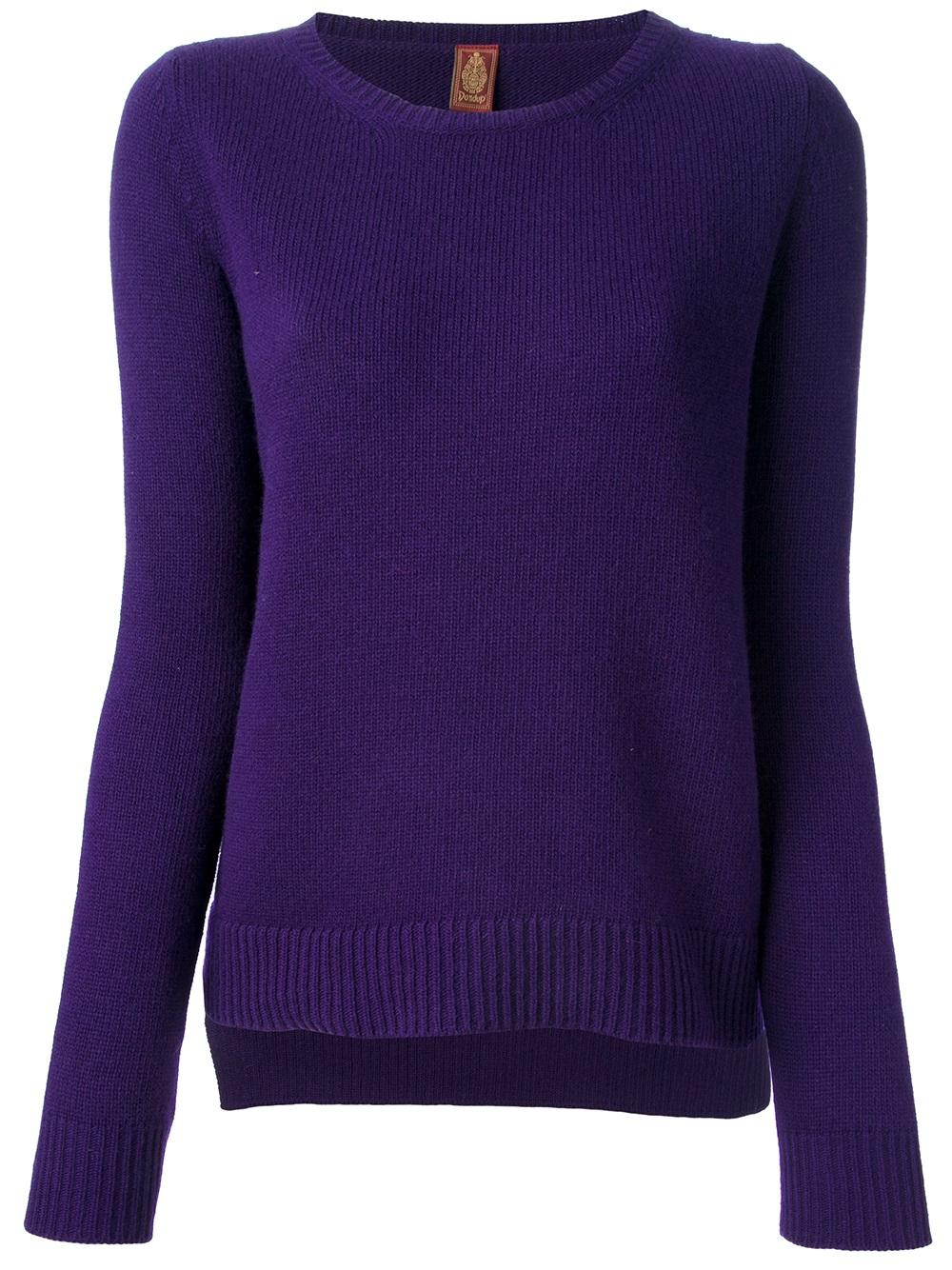 Dondup Long Sleeve Sweater in Purple | Lyst