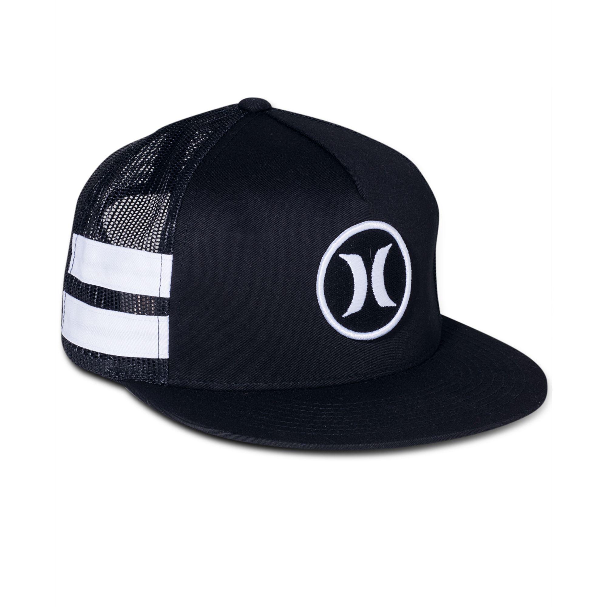 Lyst - Hurley Block Party Trucker Hat in Black for Men 2c88044311a7