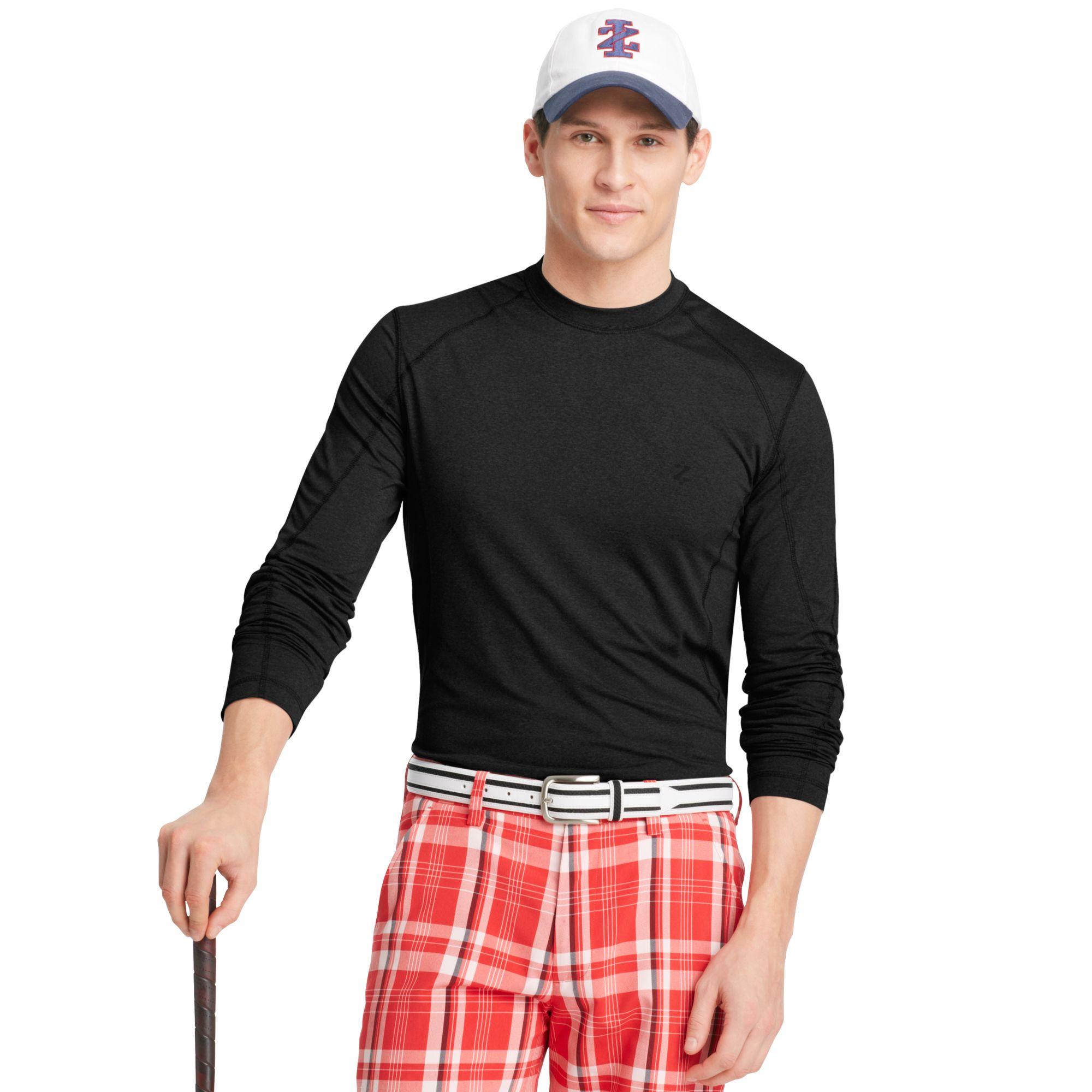 izod izod golf shirt slimfit crew neck longsleeve jersey