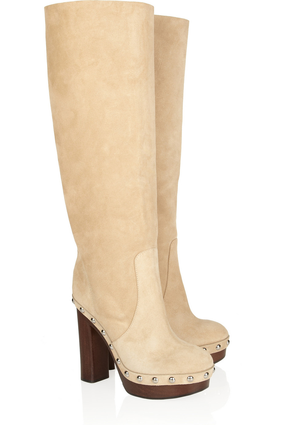 michael kors suede knee boots in lyst