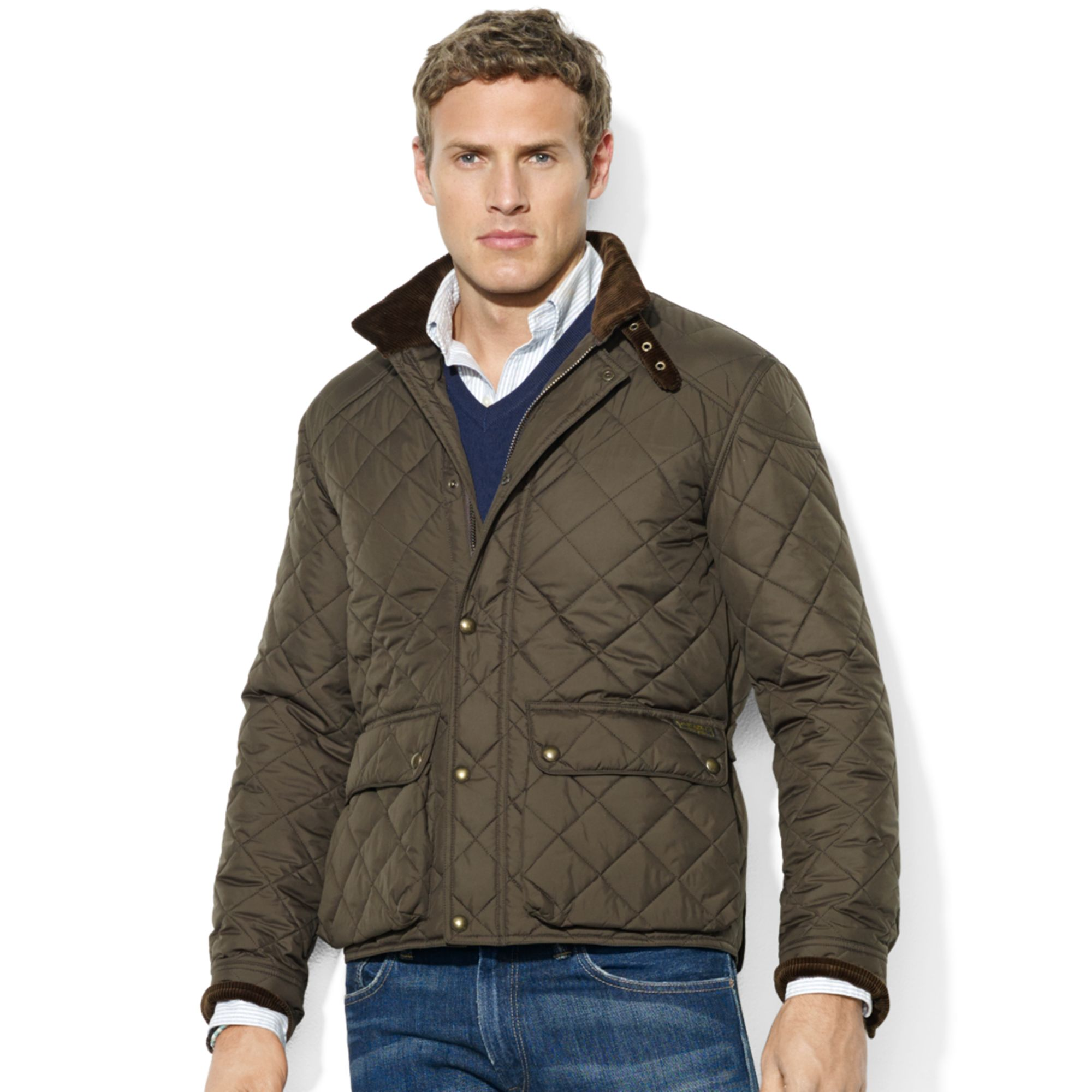 Ralph lauren Cadwell Quilted Bomber Jacket in Green for Men | Lyst