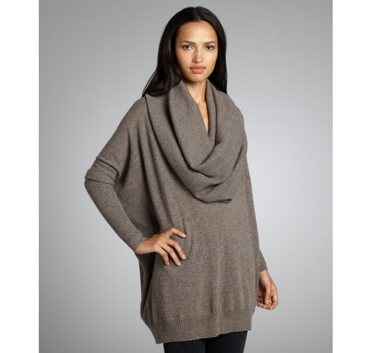Autumn cashmere Rye Brown Cashmere Oversized Cowl Neck Sweater in ...