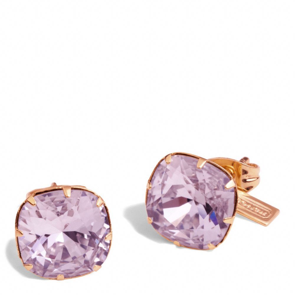 coach stud earrings coach stud earrings in purple lyst 1162
