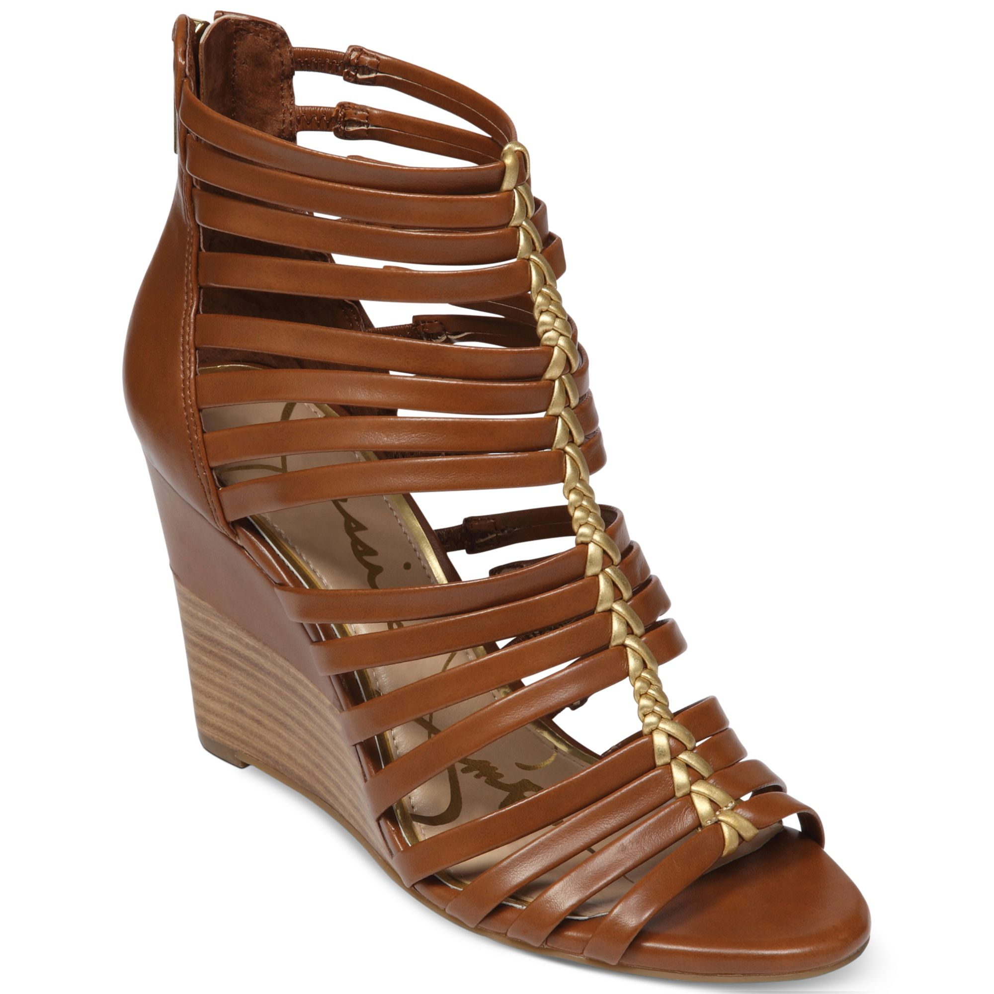 Jessica Simpson Miccy Wedge Gladiator Sandals In Brown