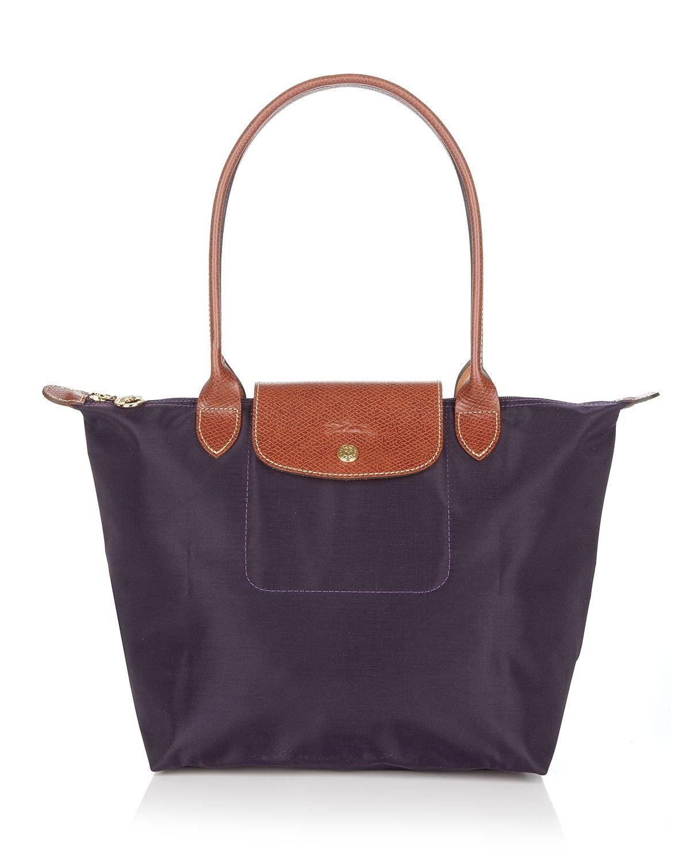 Longchamp Laukut Tori : Lyst longchamp le pliage medium shoulder tote in purple