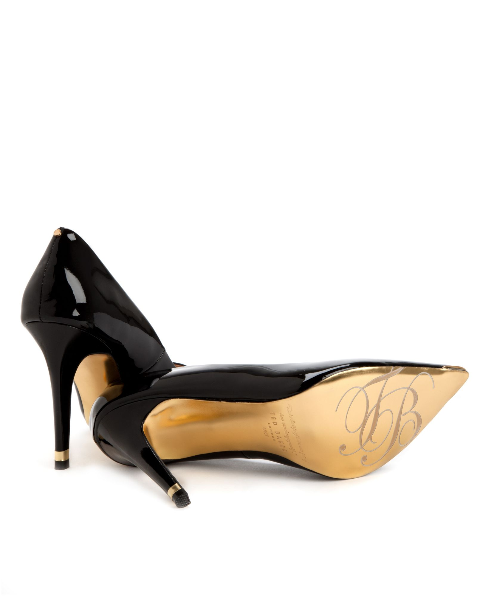 ted baker neevo pointed court shoe in black lyst
