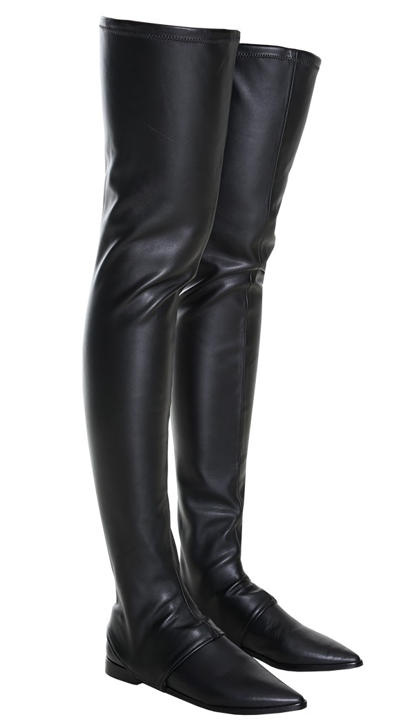 tibi thea thigh high boot in black lyst