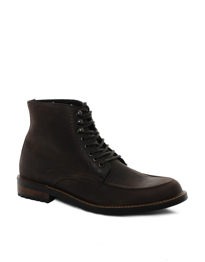 aldo aldo gouldman leather boots in brown for lyst
