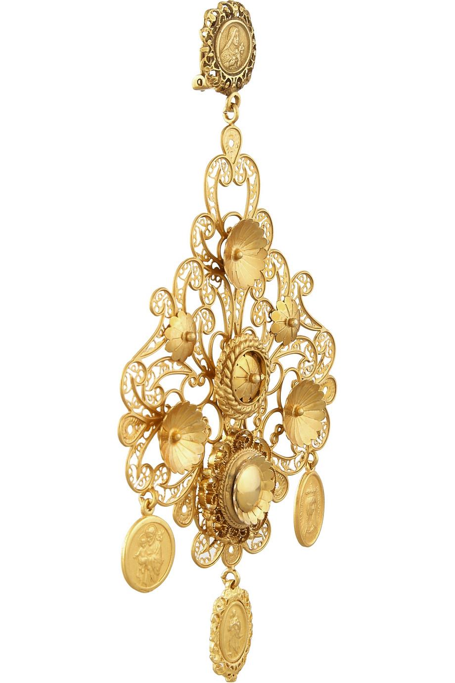 Lyst Dolce Amp Gabbana Filigrana Gold Plated Chandelier