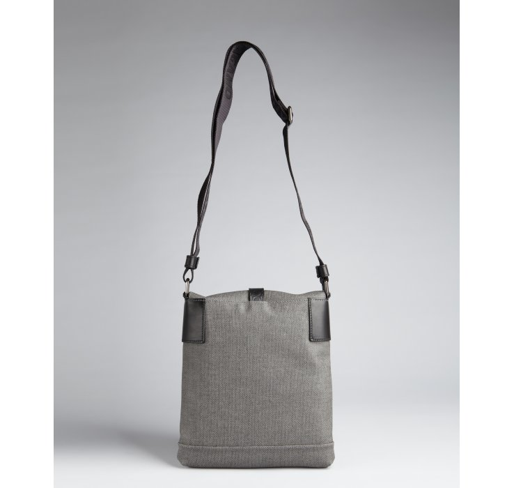 67938b9b1af3 Ferragamo Grey Coated Canvas Map Case Small Messenger Bag in Gray ...