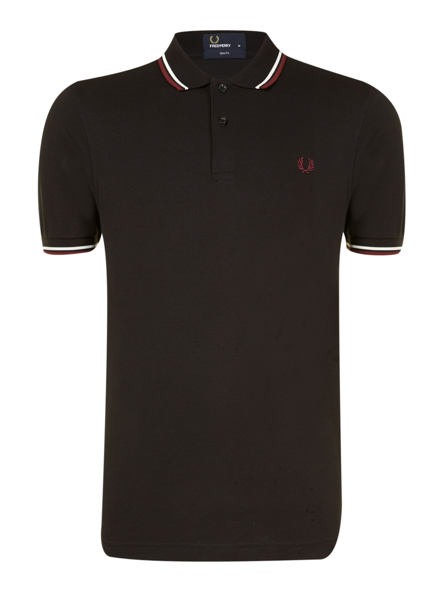 fred perry twin tipped slim fit polo shirt in black for. Black Bedroom Furniture Sets. Home Design Ideas