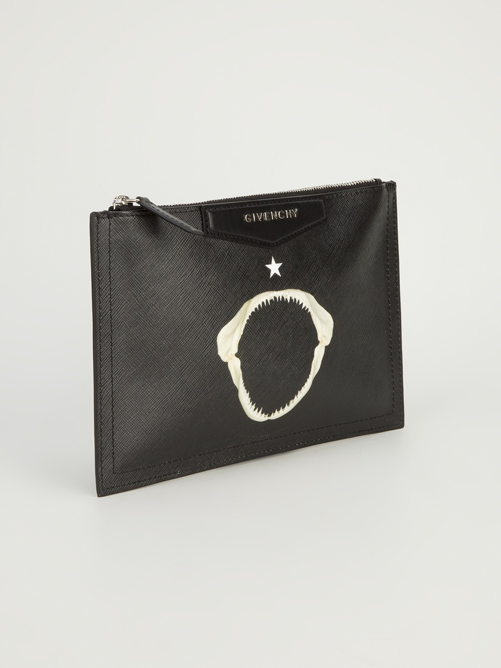 Lyst - Givenchy Zip Clutch Bag in Black 8728976525fd2
