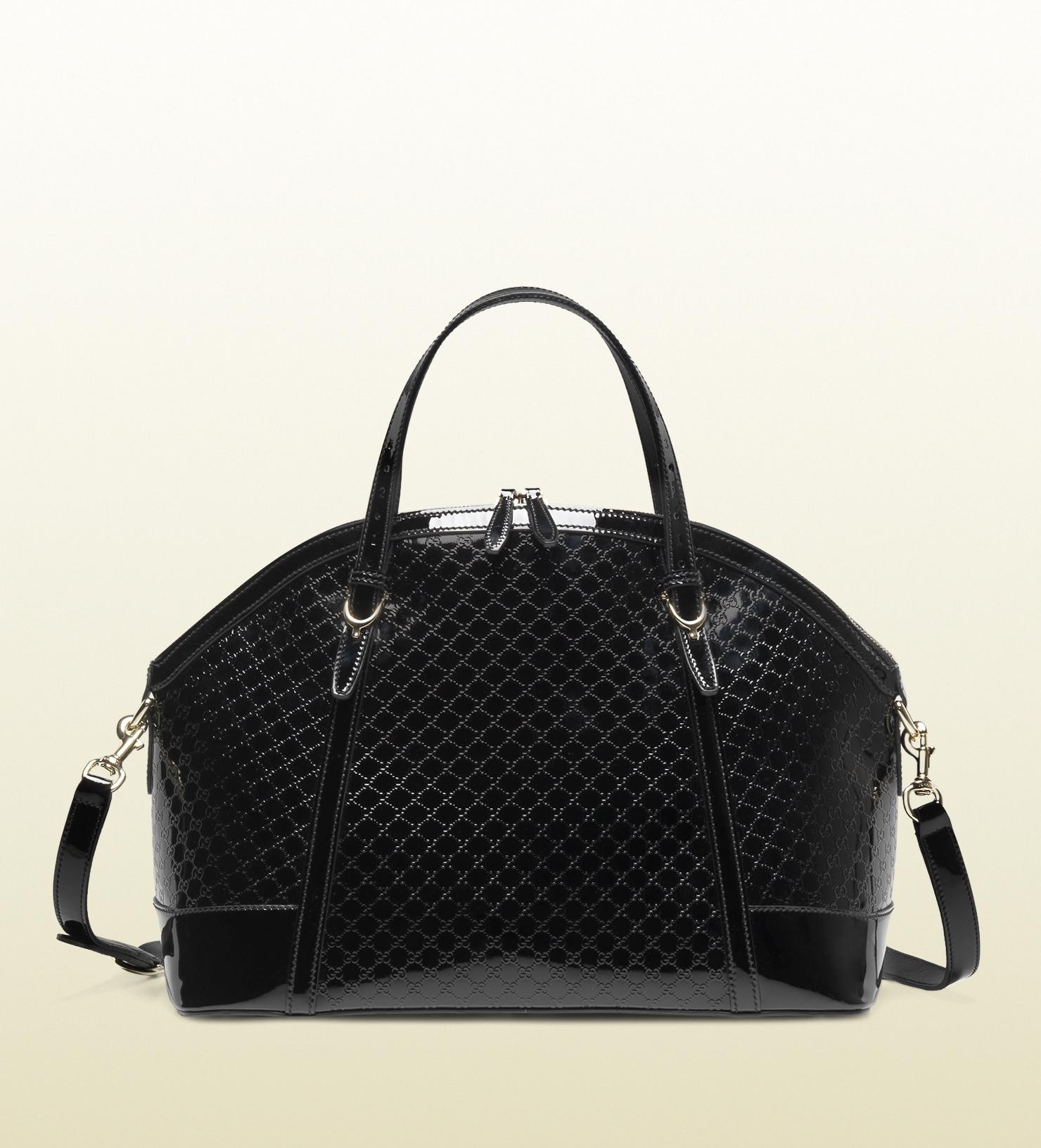 Gucci Gucci Nice Micro=guccissima Patent Leather Top ...