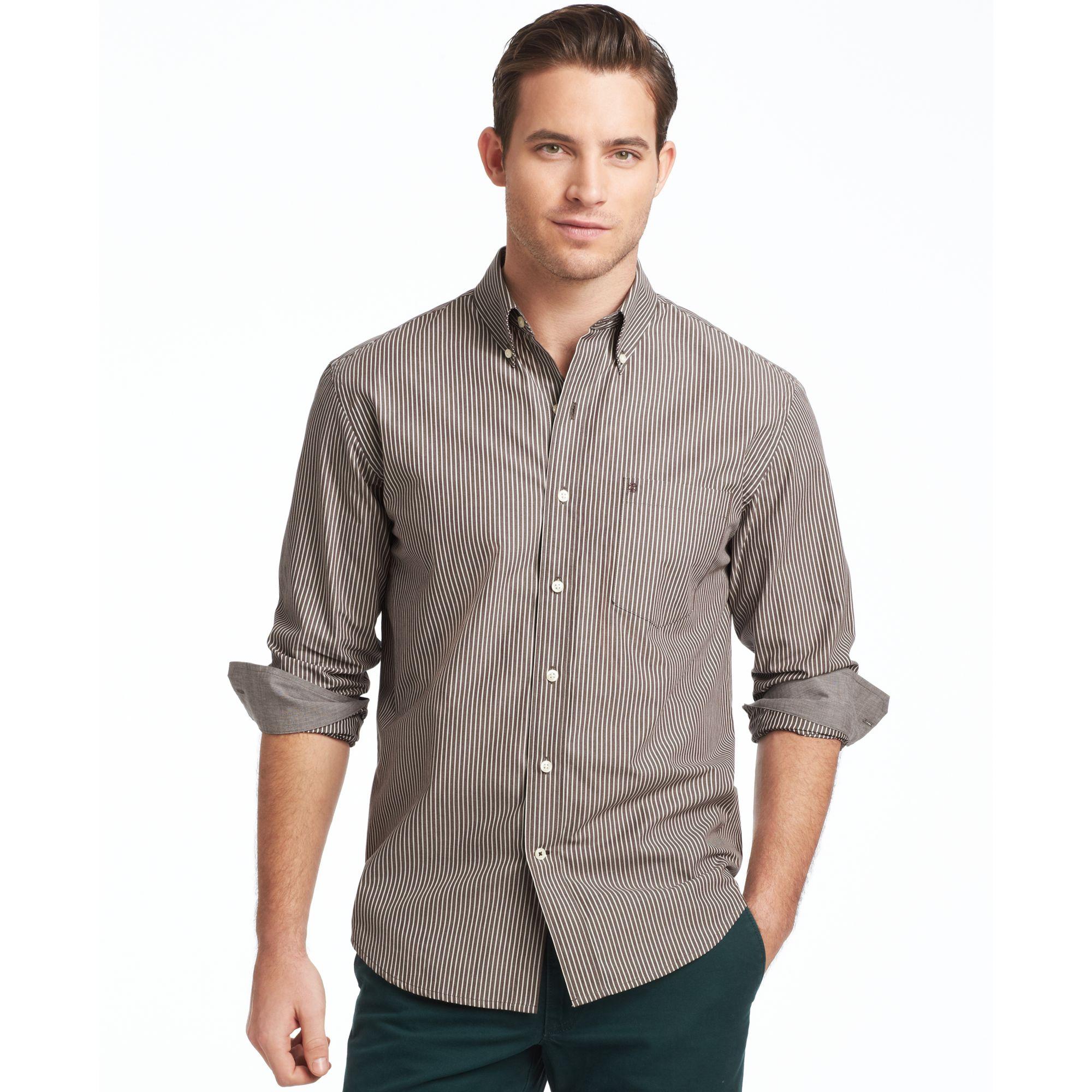 Lyst Izod Izod Shirts Long Sleeve Stripe Essential Shirt