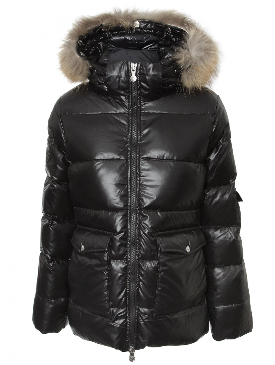 Pyrenex Womens Quilted Authentic Shiny Coat Black In Black