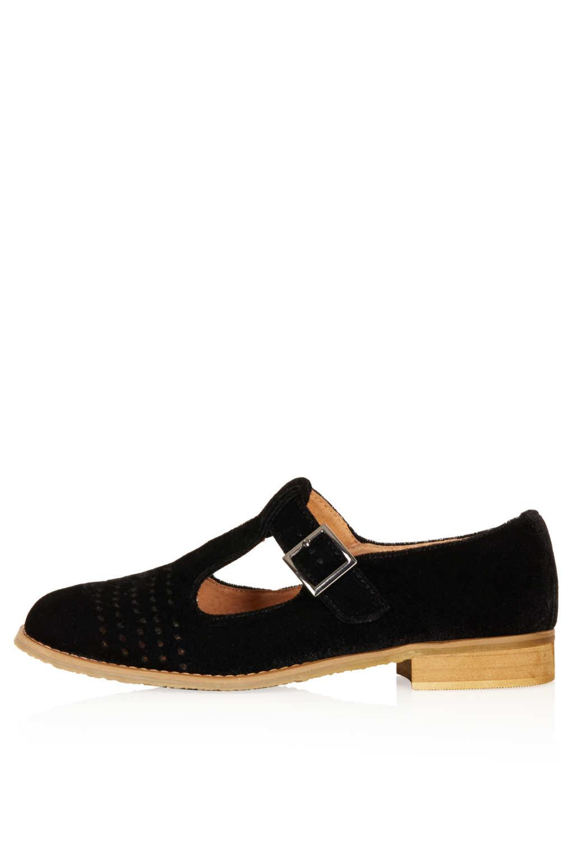 T Bar Geek Shoes Black