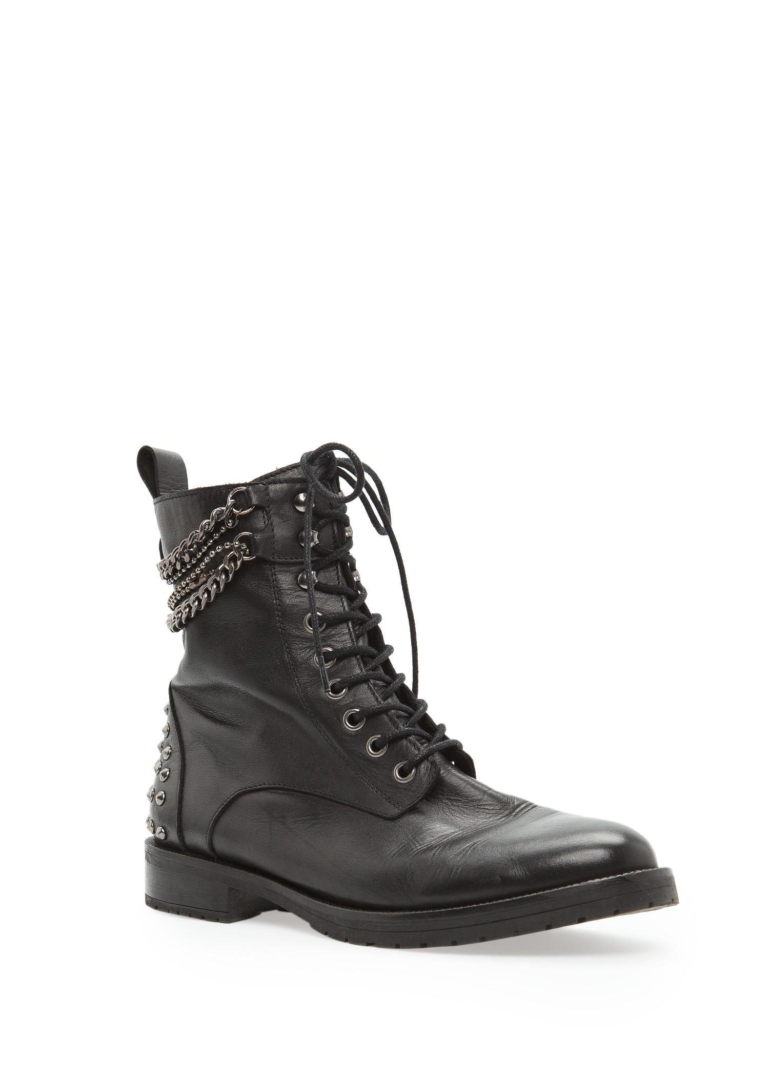 Mango Rocker Leather Ankle Boots In Black Lyst