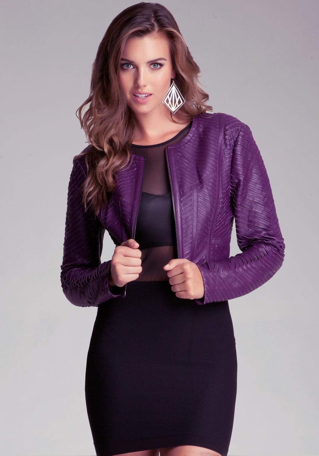 Bebe black leather jacket