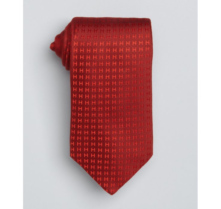 lyst herm232s red h pattern silk tie in red for men