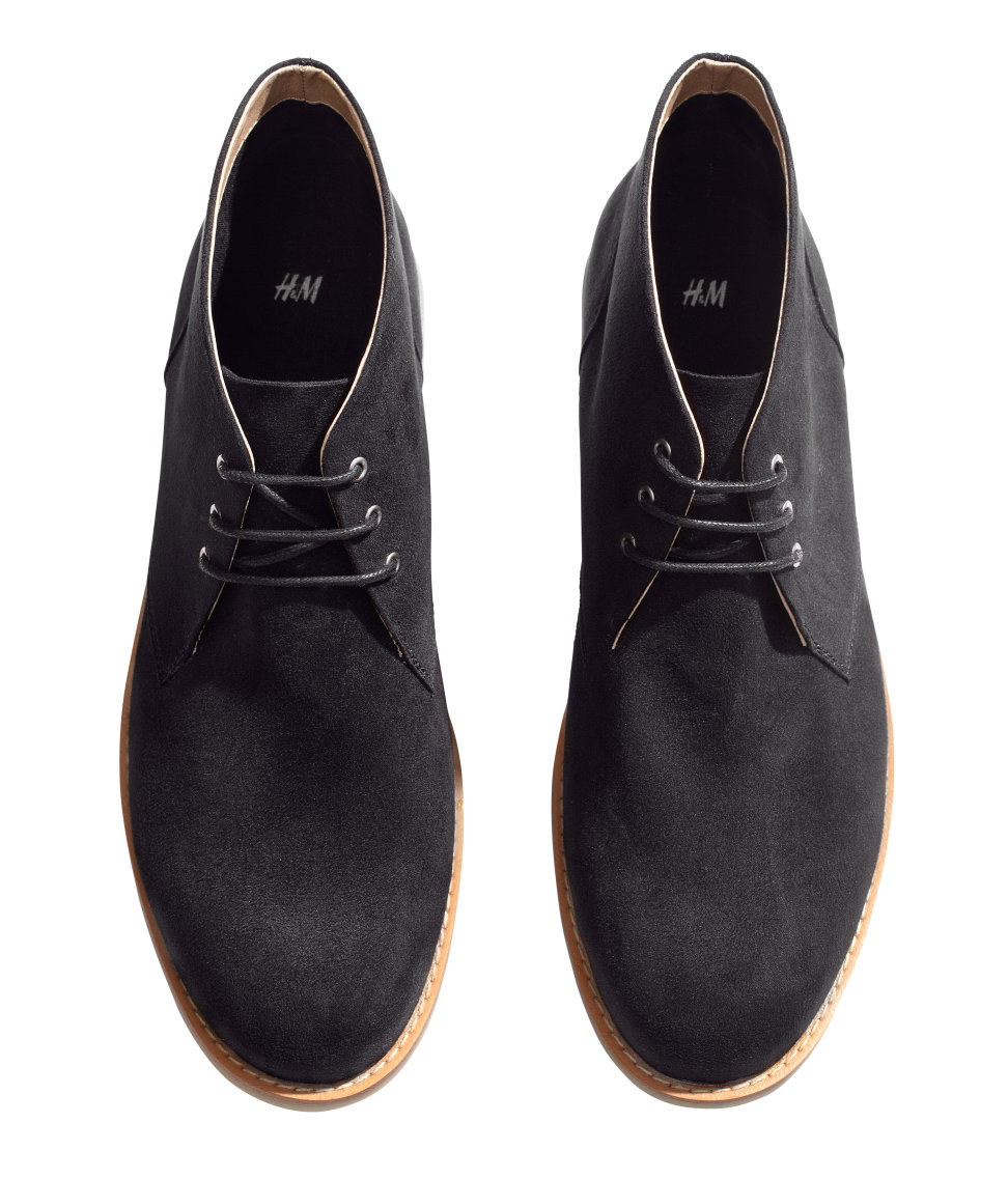 h m desert boots in black for lyst