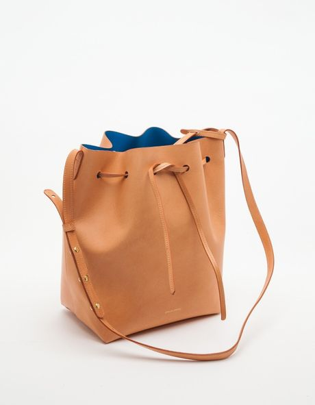mansur gavriel bucket bag in brown cammello azurro lyst. Black Bedroom Furniture Sets. Home Design Ideas