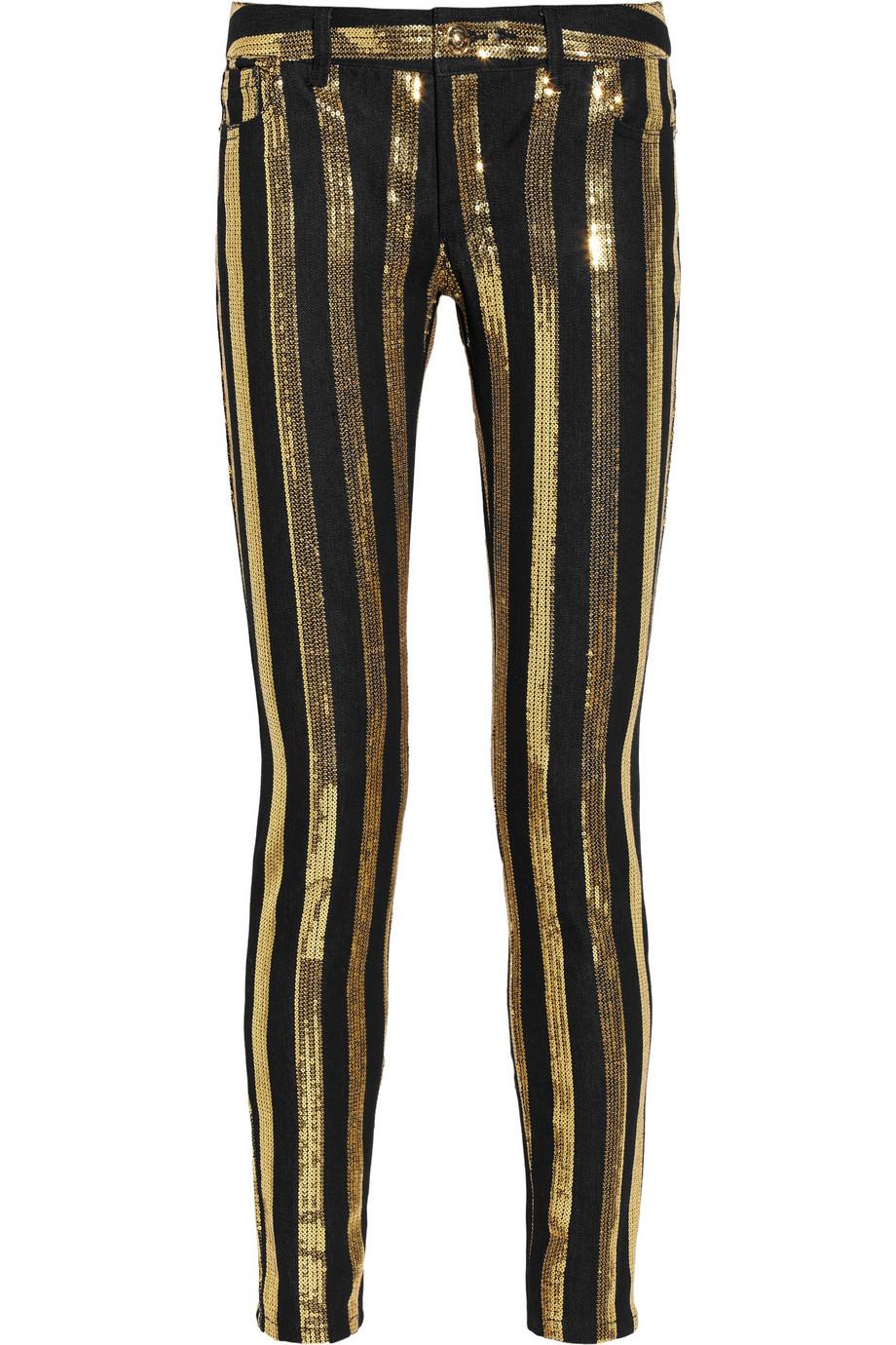 Striped Skinny Jeans Ye Jean