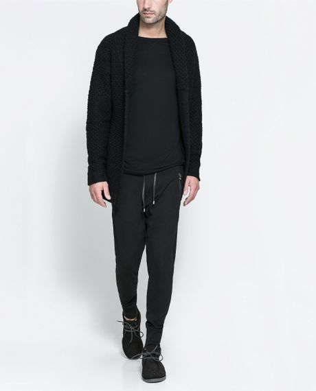 Zara Tuxedo Collared Blazer in Black for Men | Lyst
