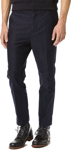 3 1 Phillip Lim Saddle Fit Tapered Dress Pants In Blue For