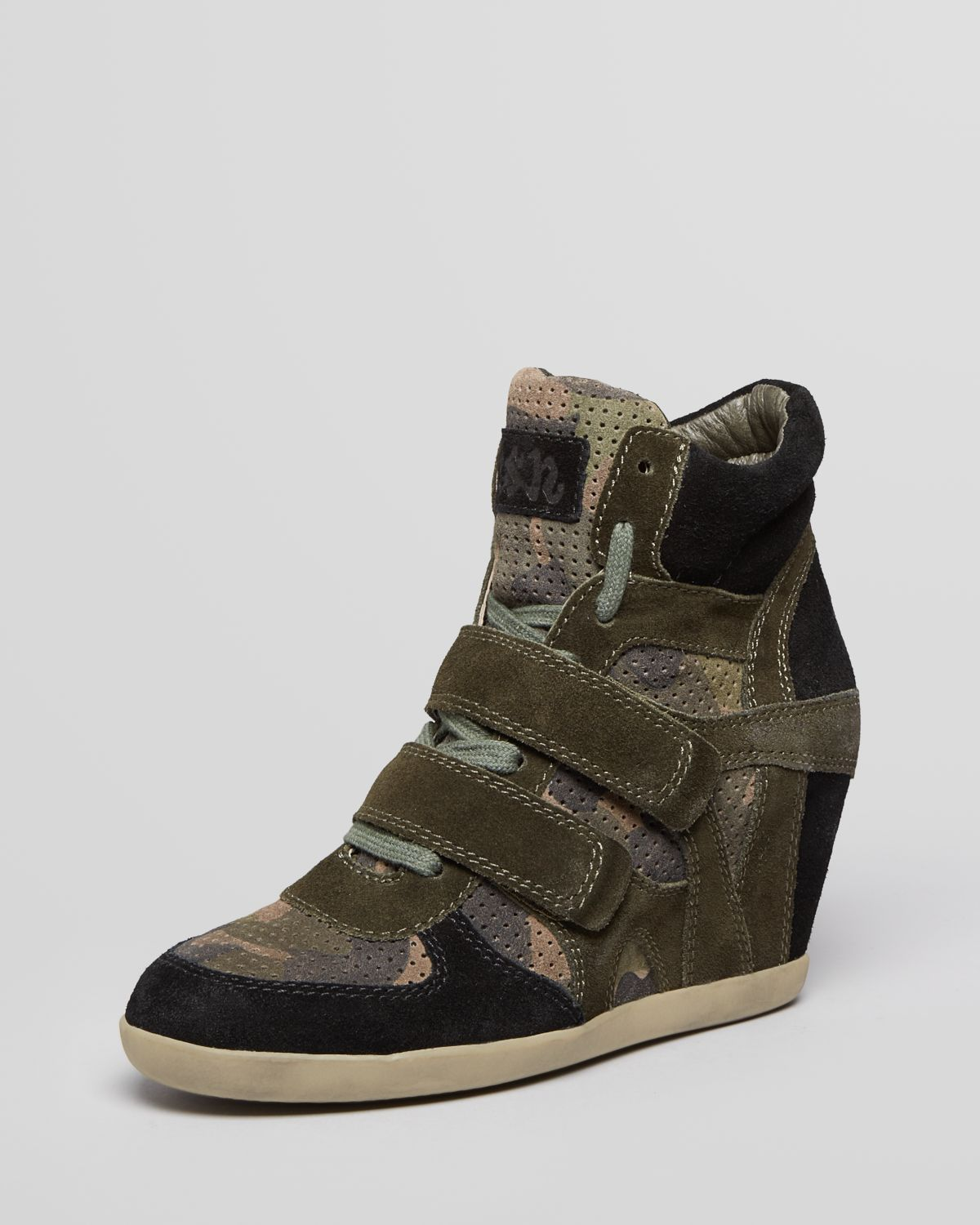 lyst ash high top wedge sneakers bea bis in black. Black Bedroom Furniture Sets. Home Design Ideas