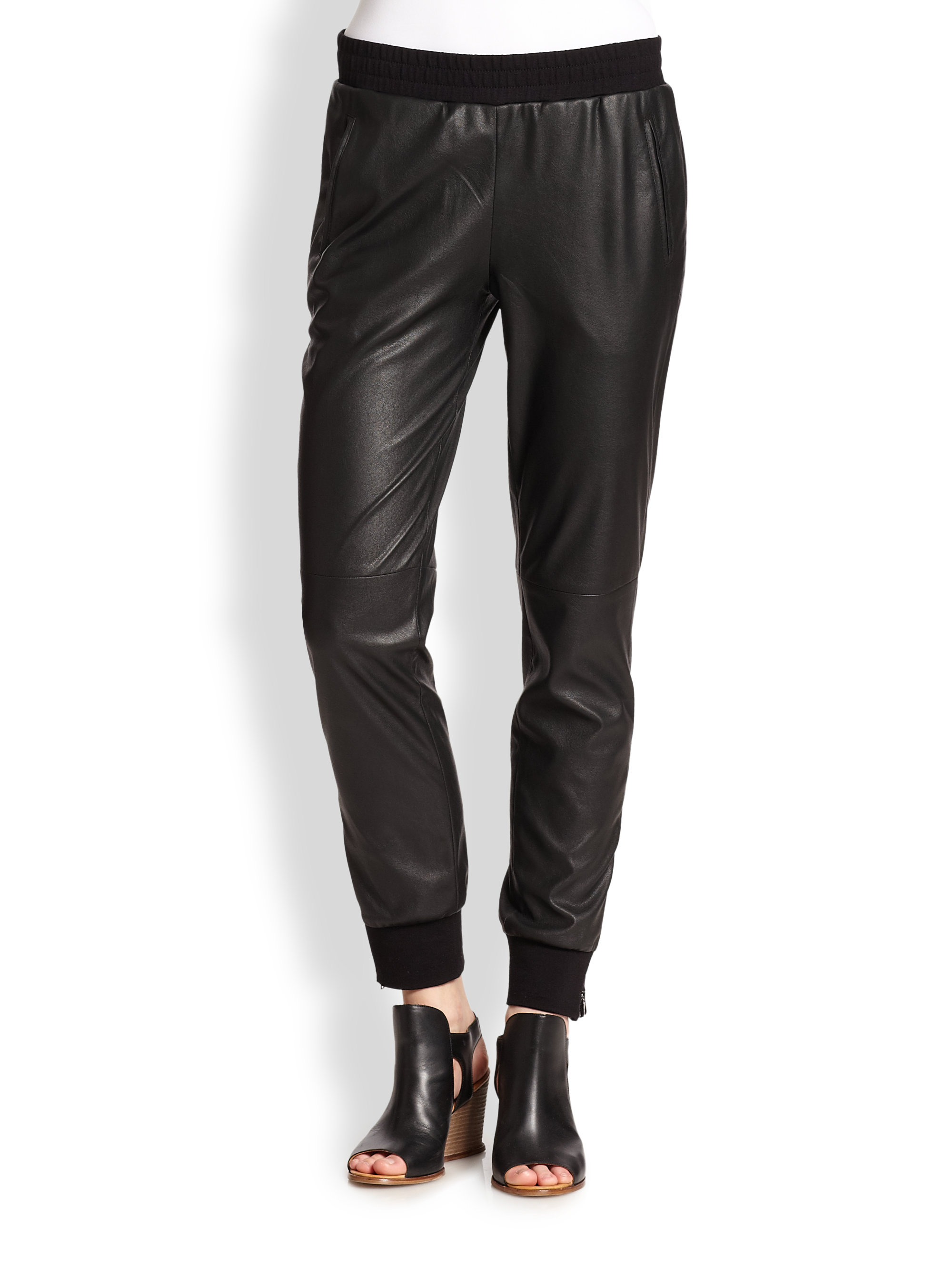 83df42674d77c BCBGMAXAZRIA Relaxed Faux Leather Pants in Black - Lyst