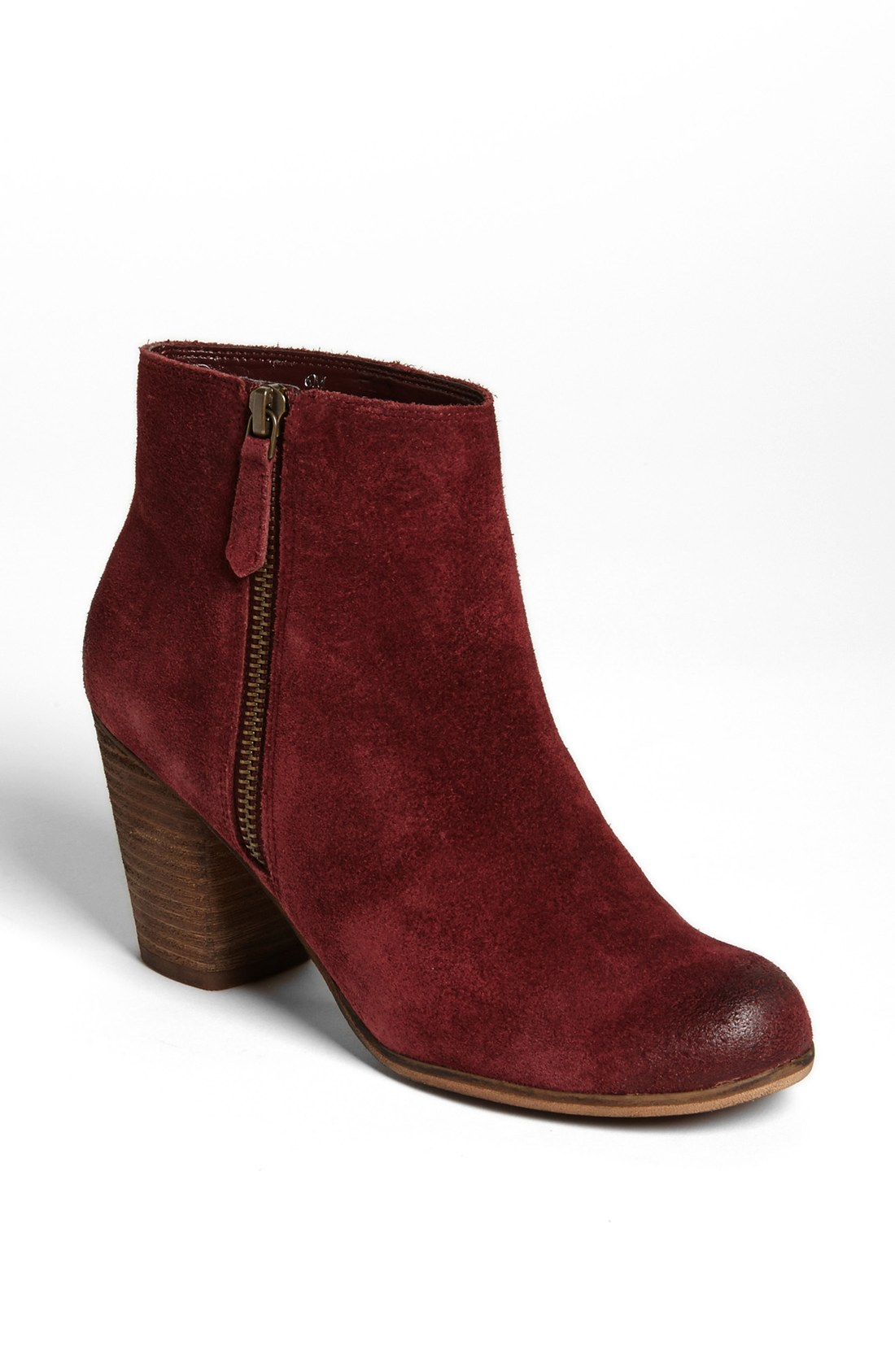 bp trolley suede ankle boot in burgundy suede lyst