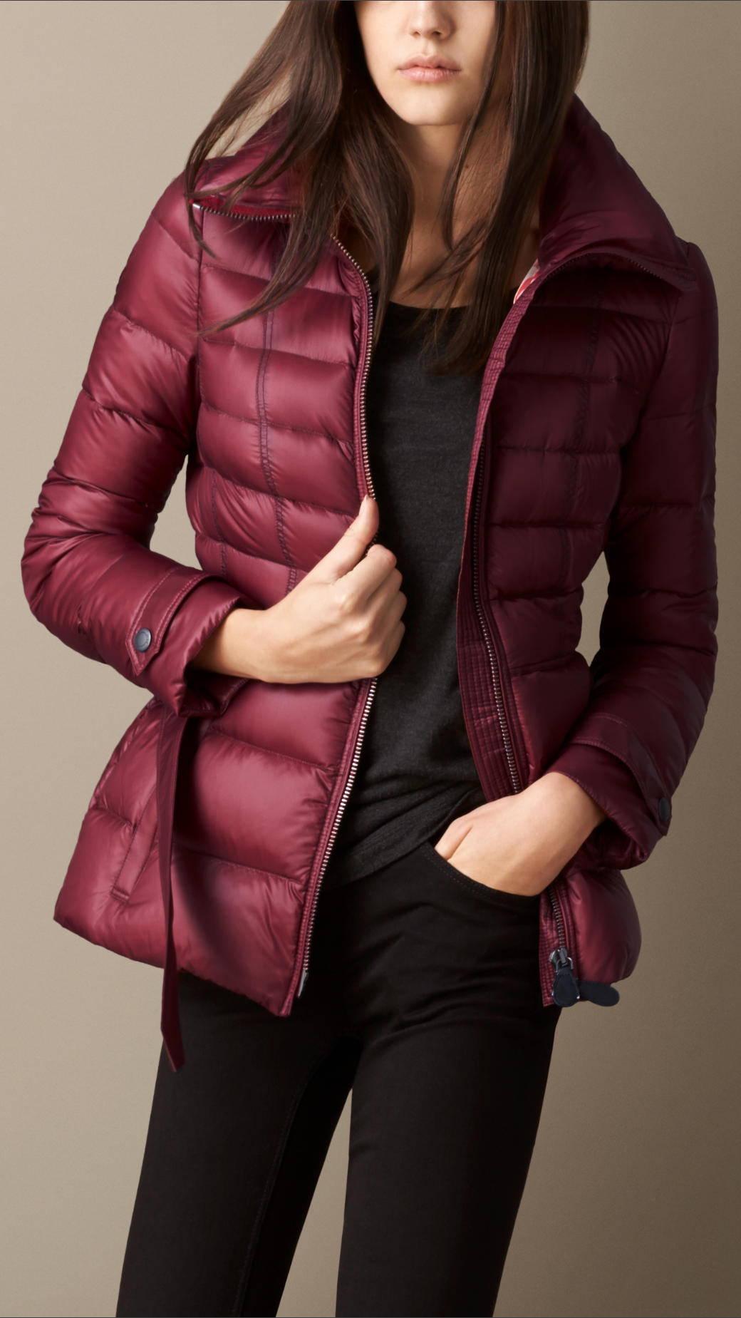 054c956bc Burberry Purple Channel Quilted Puffer Jacket