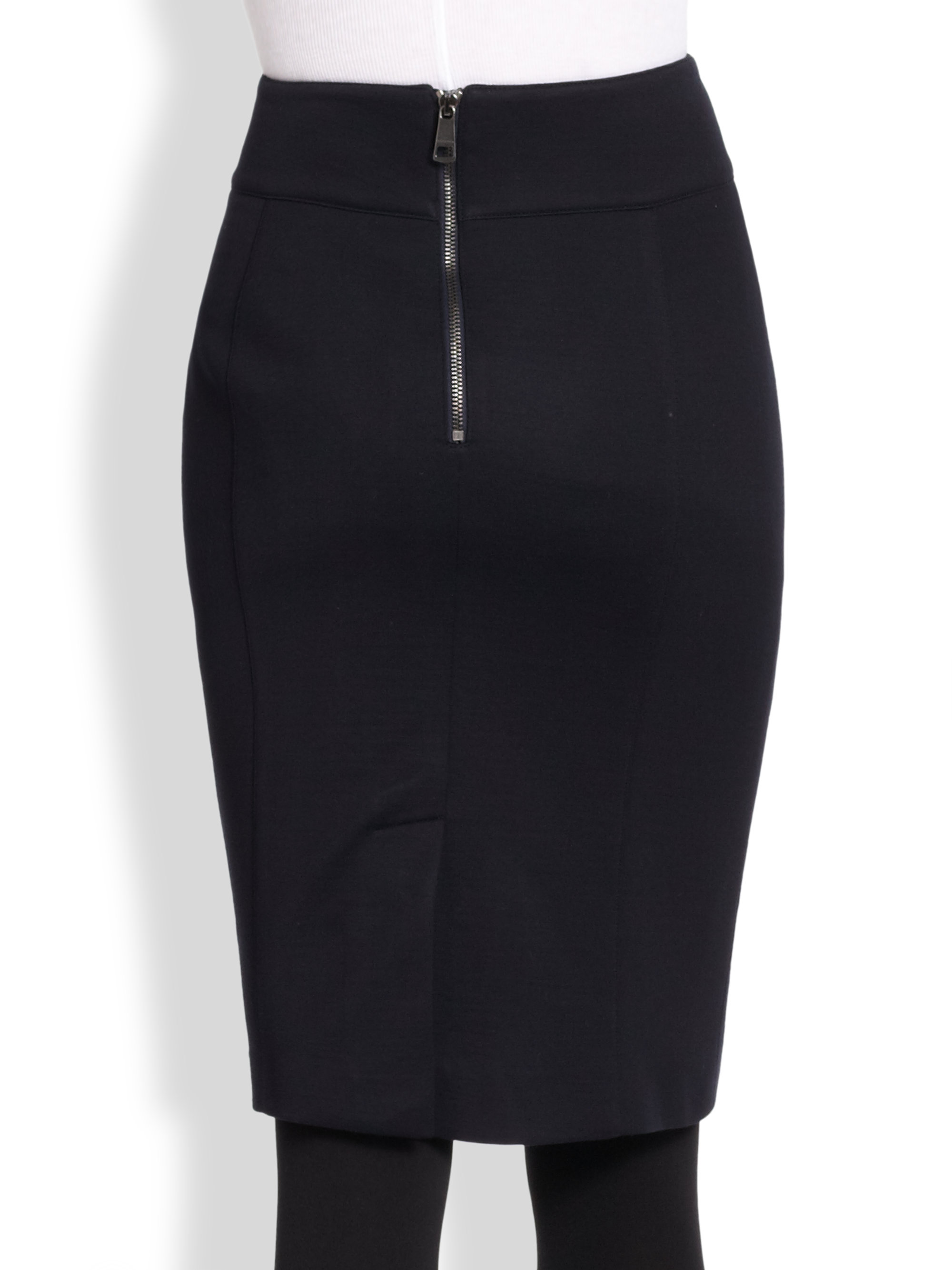 burberry jersey pencil skirt in black lyst