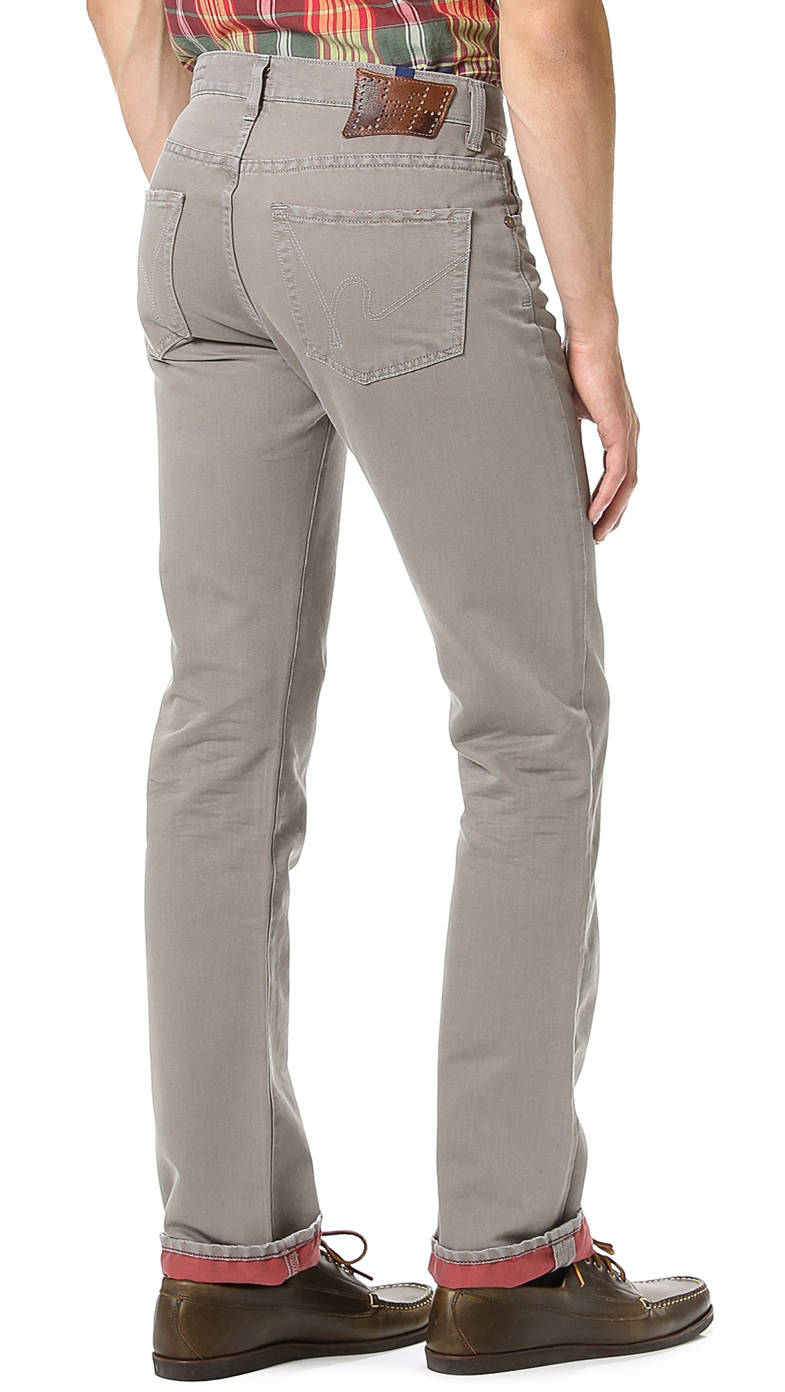 lyst citizens of humanity sid twill straight leg jeans in gray for men. Black Bedroom Furniture Sets. Home Design Ideas