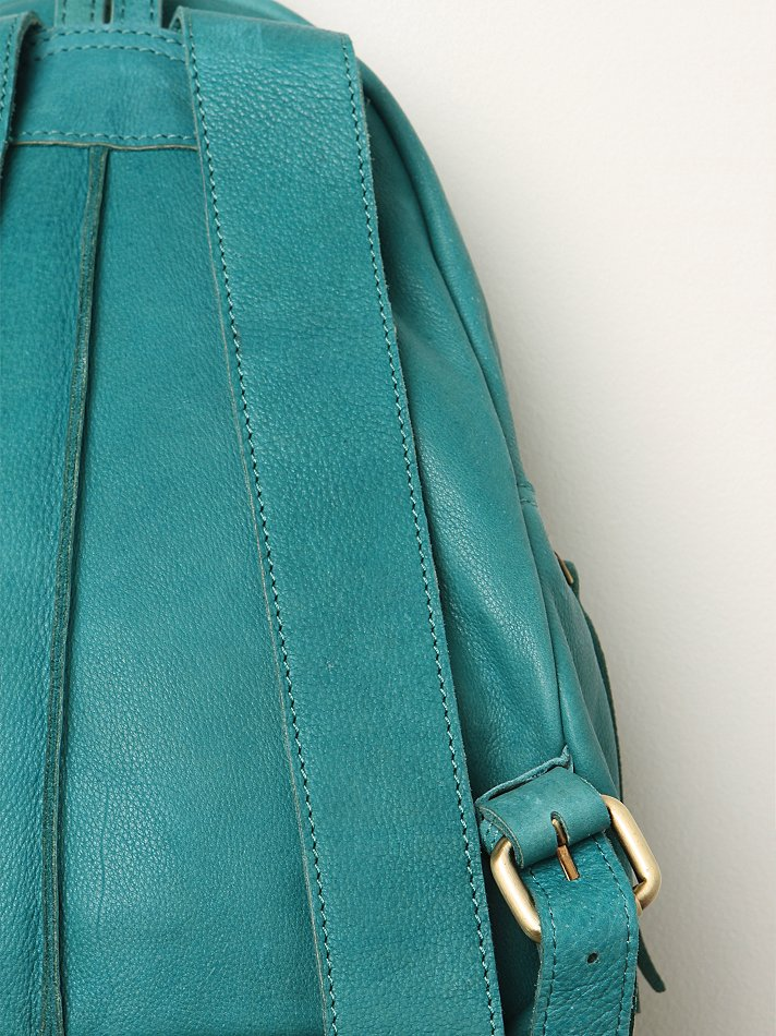 Free People Sunday Leather Backpack in Green