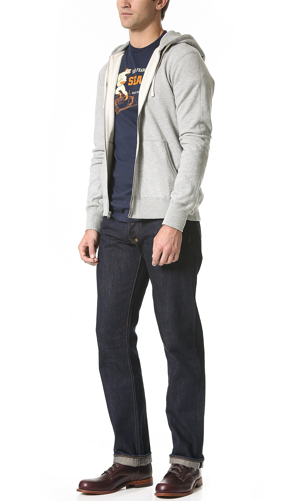 Ebbets Field Flannels Sf Seals Tshirt in Navy (Blue) for Men